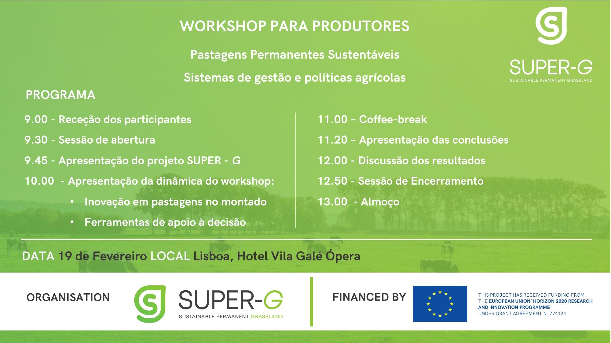 Workshop para produtores – Projeto SUPER-G