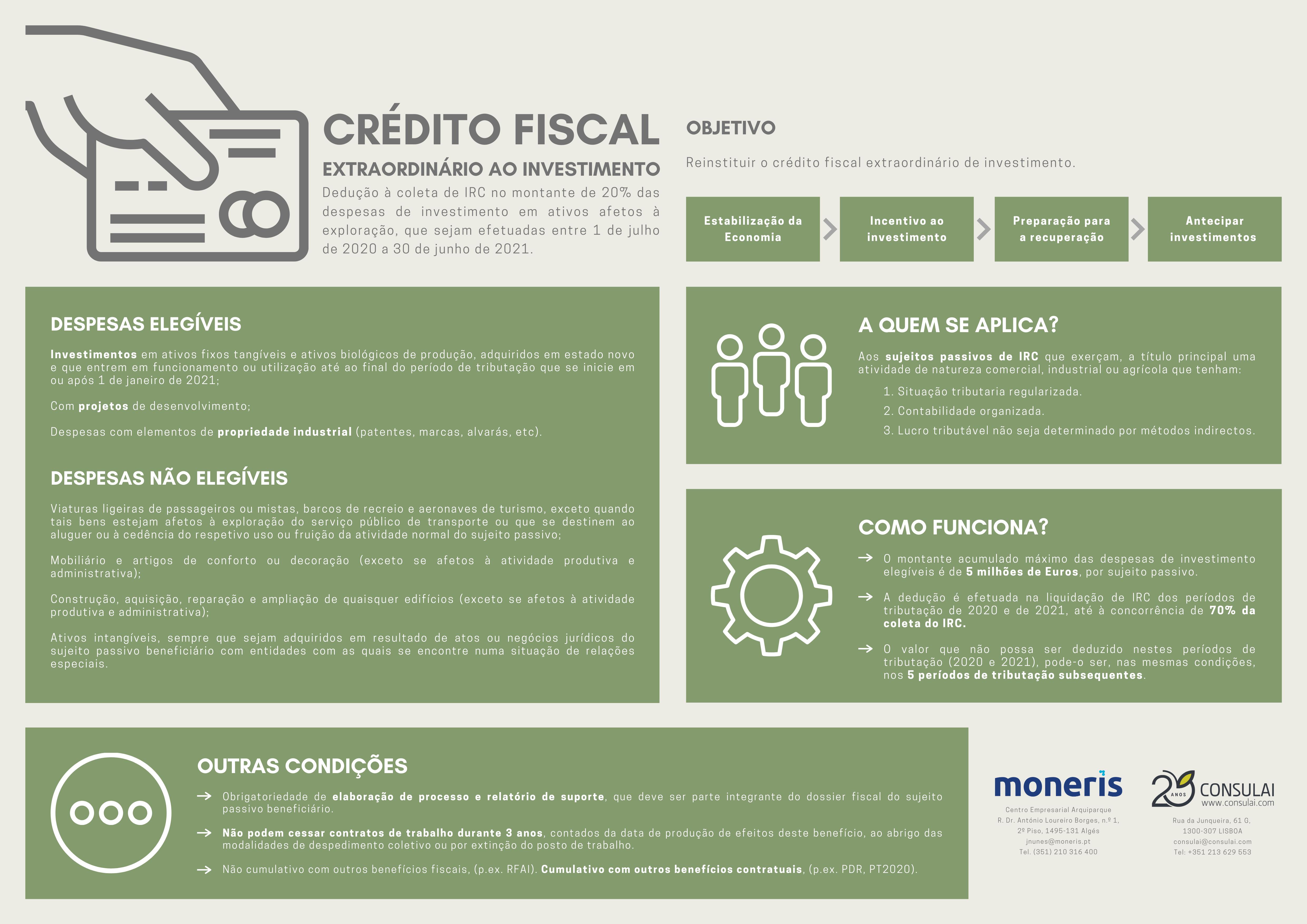 Crédito Fiscal Extraordinário ao Investimento