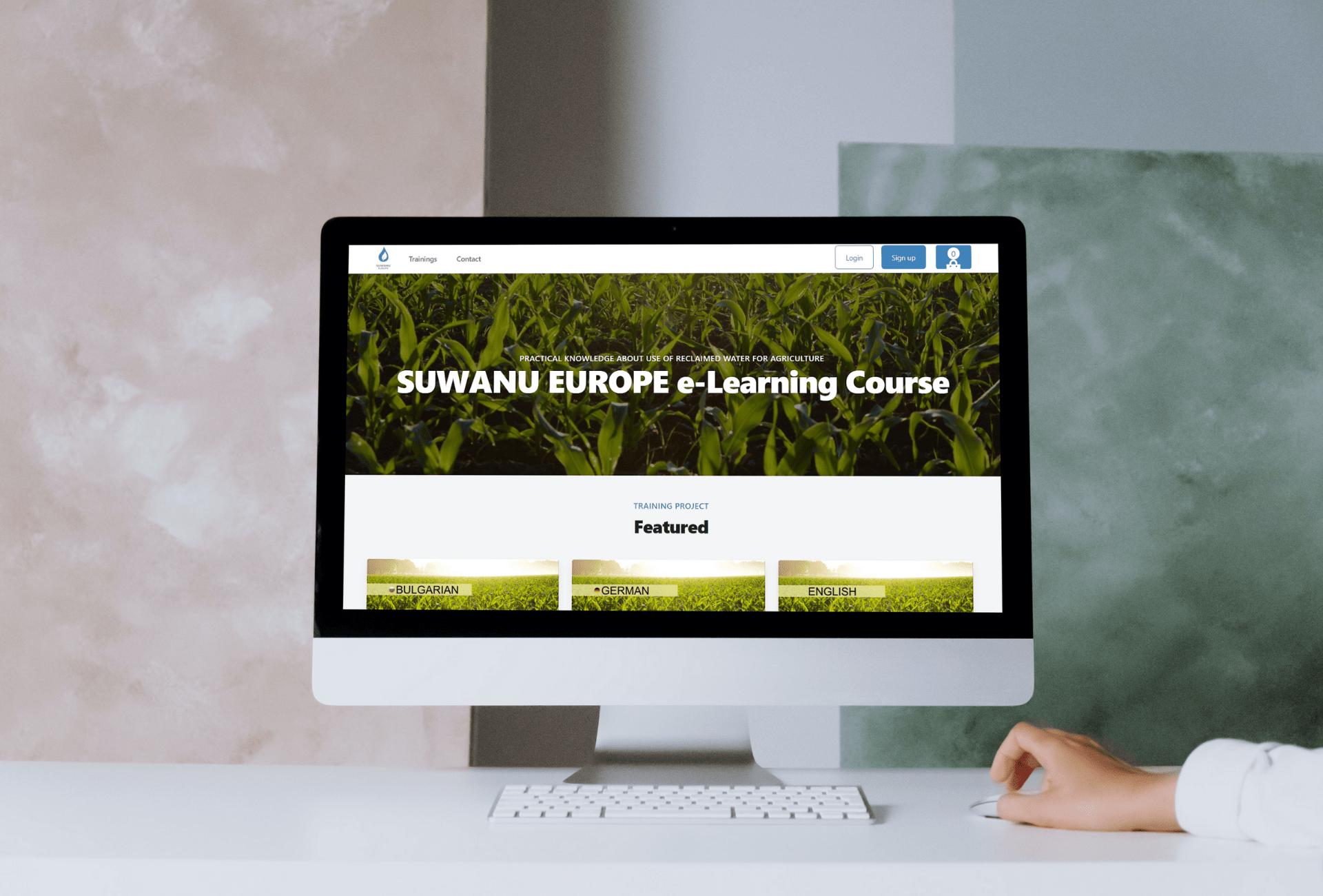 Projeto internacional SUWANU EUROPE tem a honra de anunciar o primeiro curso on-line sobre reutilização de água para a agricultura